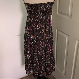 NWT! Susina gray floral strapless dress Size 0X